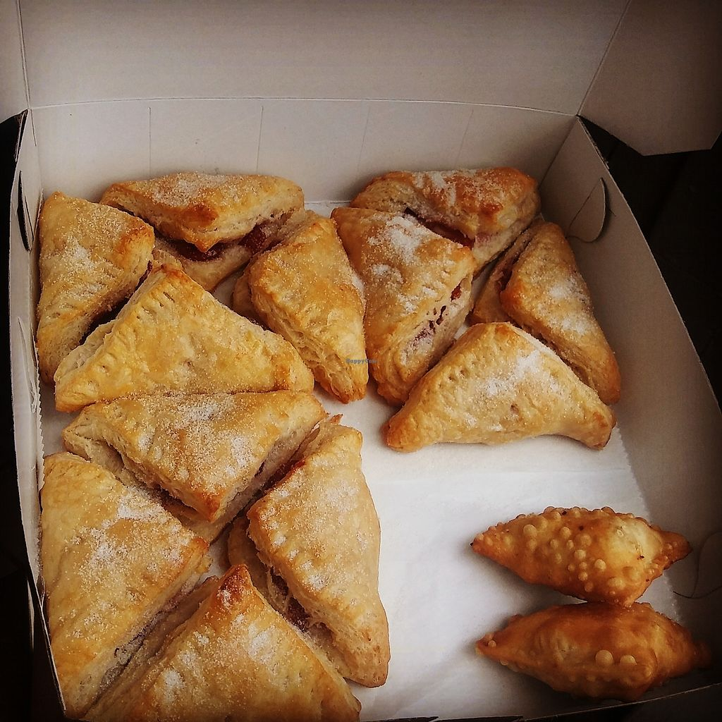 """Photo of The Happy Vegan Bakers  by <a href=""""/members/profile/Happyveganbakers"""">Happyveganbakers</a> <br/>Mouth watering pastelitos and empanadas <br/> August 10, 2017  - <a href='/contact/abuse/image/98276/291170'>Report</a>"""