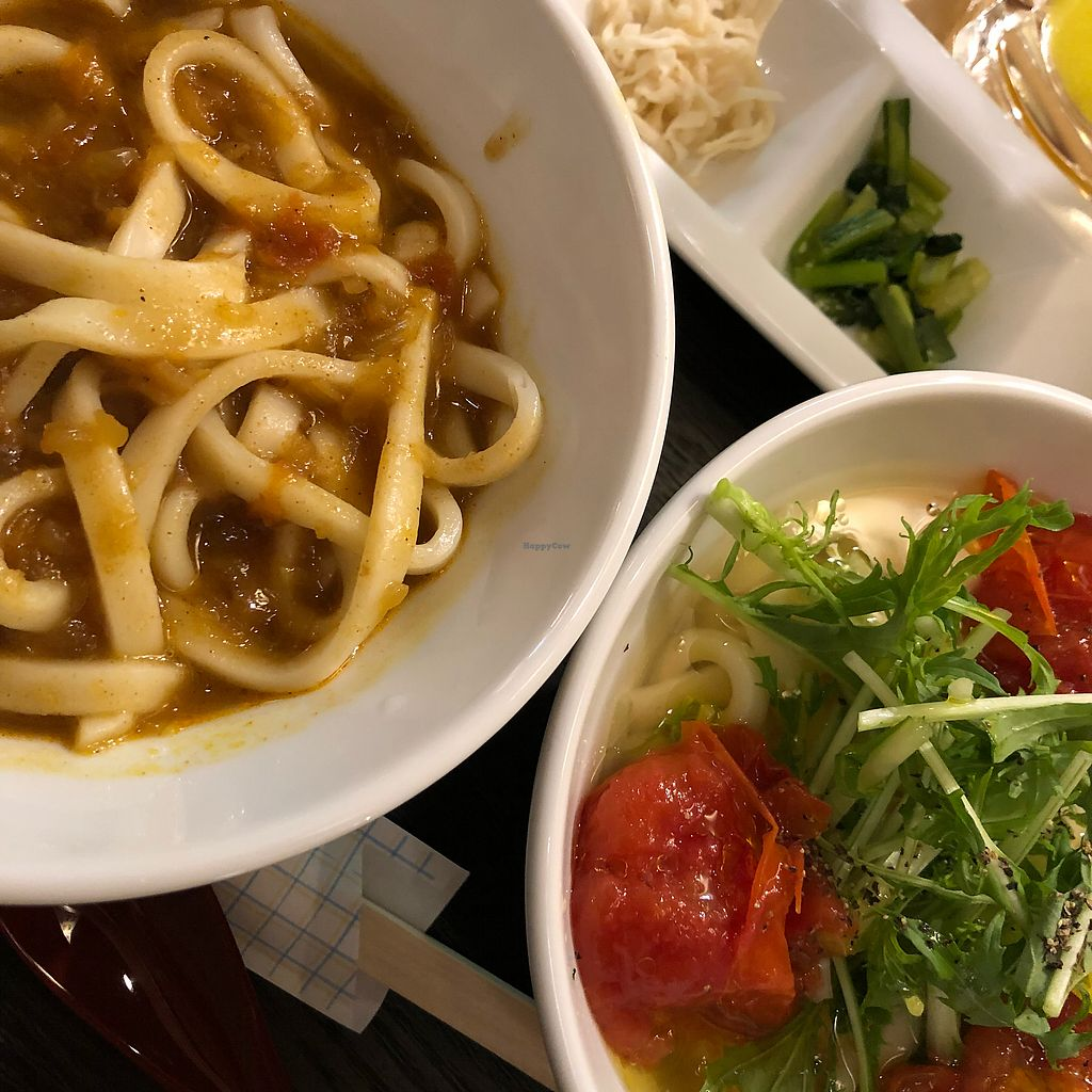 "Photo of Vege Deli Kanna  by <a href=""/members/profile/SimonJohnson"">SimonJohnson</a> <br/>Curry udon and roast tomato udon <br/> March 22, 2018  - <a href='/contact/abuse/image/98278/374121'>Report</a>"