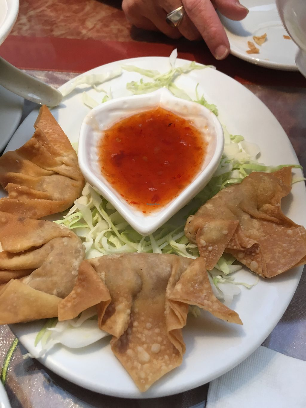 """Photo of Seattle Lotus Vegetarian  by <a href=""""/members/profile/Veg4Jay"""">Veg4Jay</a> <br/>Deep Fried Wonton <br/> August 12, 2017  - <a href='/contact/abuse/image/98282/291791'>Report</a>"""