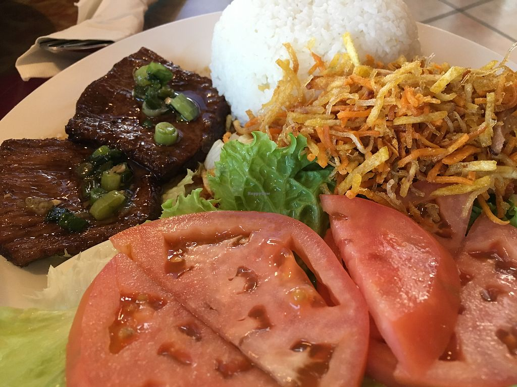 """Photo of Seattle Lotus Vegetarian  by <a href=""""/members/profile/Veg4Jay"""">Veg4Jay</a> <br/>Veg Pork Chop & Rice <br/> October 30, 2017  - <a href='/contact/abuse/image/98282/320021'>Report</a>"""