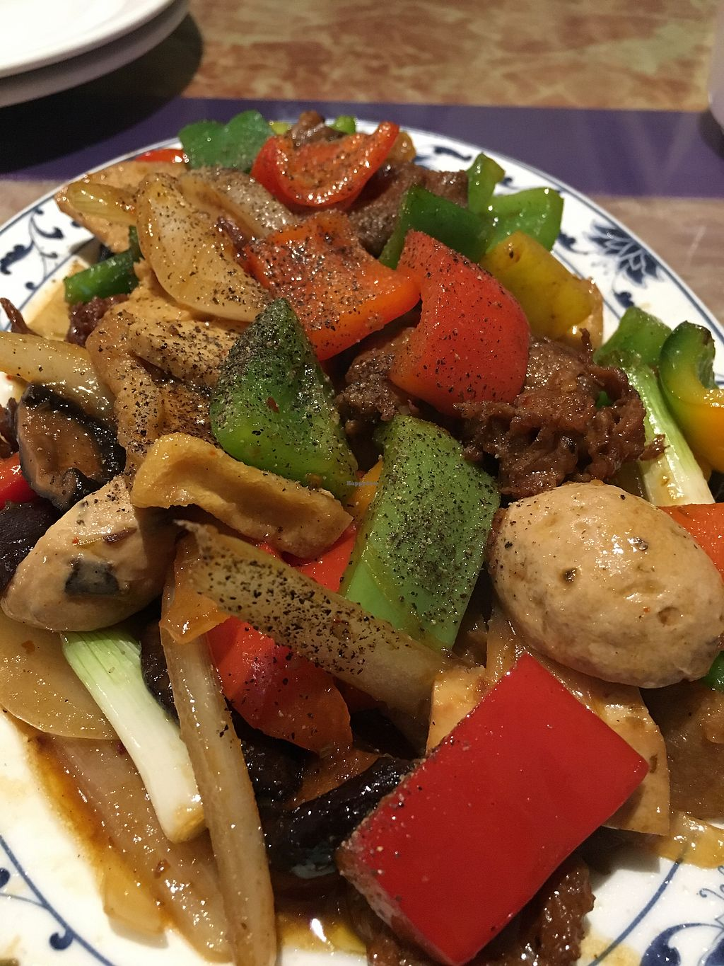 """Photo of Seattle Lotus Vegetarian  by <a href=""""/members/profile/Veg4Jay"""">Veg4Jay</a> <br/>Kung Pao Combination  <br/> November 8, 2017  - <a href='/contact/abuse/image/98282/323159'>Report</a>"""