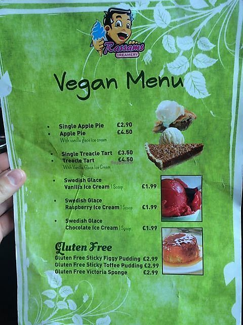 """Photo of Rassam's Creamery  by <a href=""""/members/profile/community5"""">community5</a> <br/>Vegan Menu <br/> August 10, 2017  - <a href='/contact/abuse/image/98299/291153'>Report</a>"""