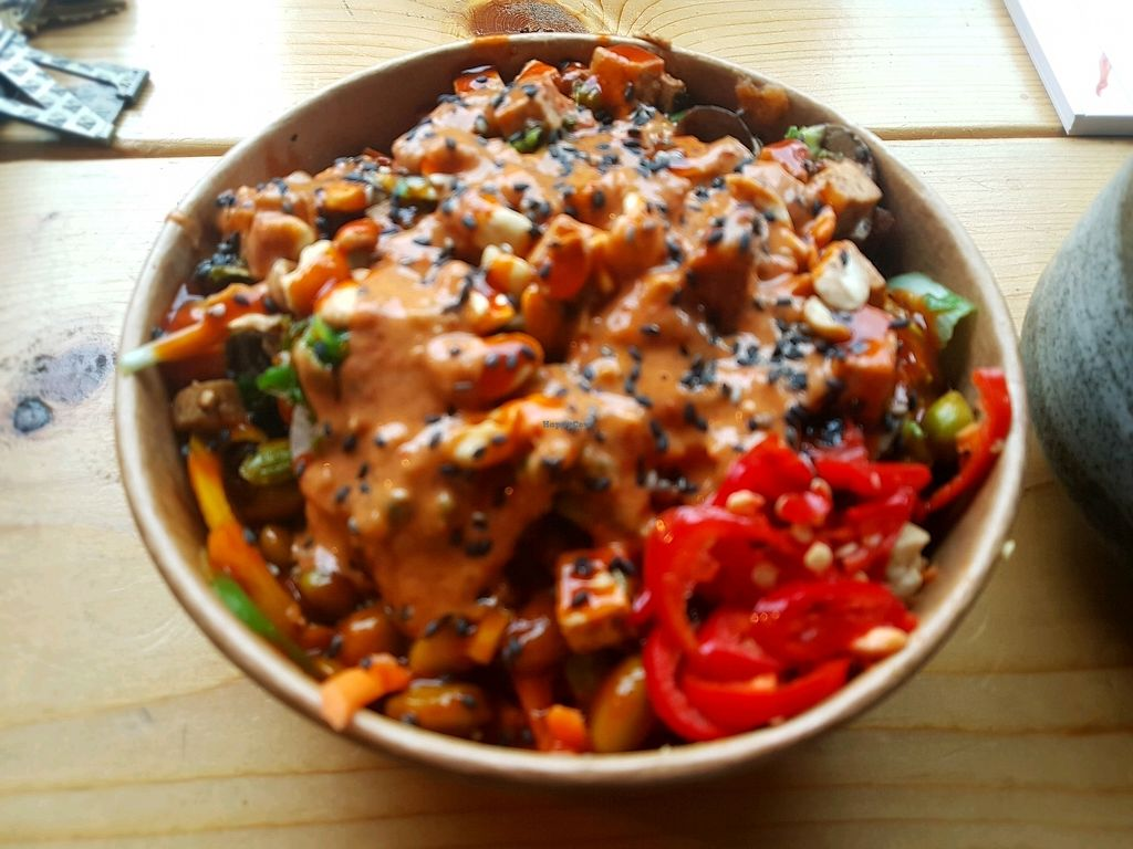 "Photo of Grounded Kitchen  by <a href=""/members/profile/NatashaAlmazMina"">NatashaAlmazMina</a> <br/>vegan Buddha bowl with peanut chilli sauce! <br/> January 11, 2018  - <a href='/contact/abuse/image/98310/345227'>Report</a>"