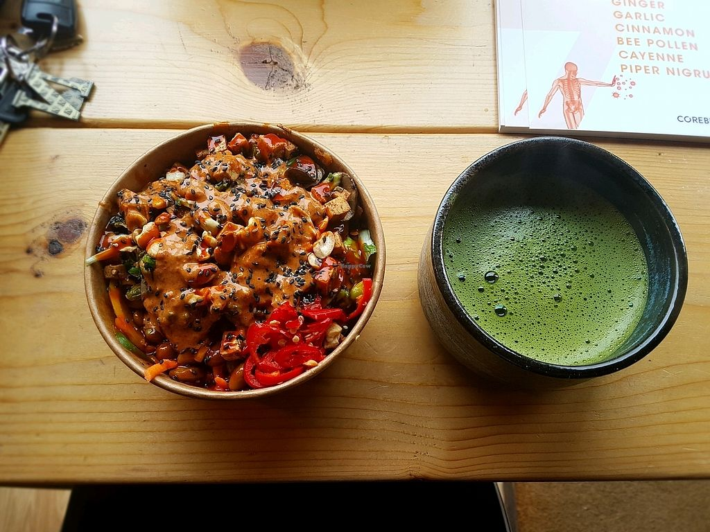 "Photo of Grounded Kitchen  by <a href=""/members/profile/NatashaAlmazMina"">NatashaAlmazMina</a> <br/>Buddha bowl with Matcha Focus Tea  <br/> January 11, 2018  - <a href='/contact/abuse/image/98310/345229'>Report</a>"
