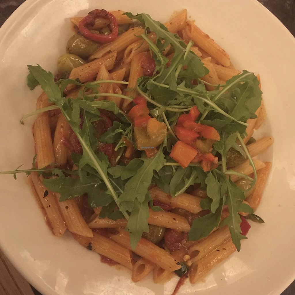 """Photo of Frankie & Benny's  by <a href=""""/members/profile/TheAccessibleVegan"""">TheAccessibleVegan</a> <br/>Spicy tomato pasta dish <br/> August 12, 2017  - <a href='/contact/abuse/image/98343/292009'>Report</a>"""
