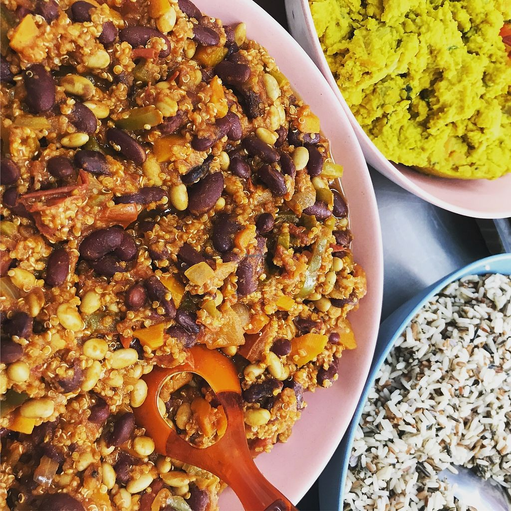 """Photo of Dollys2go  by <a href=""""/members/profile/Greedygutsgirl"""">Greedygutsgirl</a> <br/>Vegan chilli and Dahl, very tasty and made with organic lentils and locally sourced veg ! <br/> August 11, 2017  - <a href='/contact/abuse/image/98354/291644'>Report</a>"""