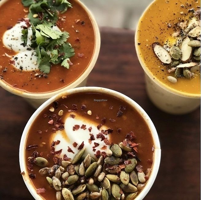 "Photo of Dripping Bowl - Food Trailer  by <a href=""/members/profile/AndiKate"">AndiKate</a> <br/>So many choices...! My fave is the Spicy Pumpkin (vegan) topped with Raglan Coconut Yogurt and roasted seeds!  <br/> September 17, 2017  - <a href='/contact/abuse/image/98372/305528'>Report</a>"