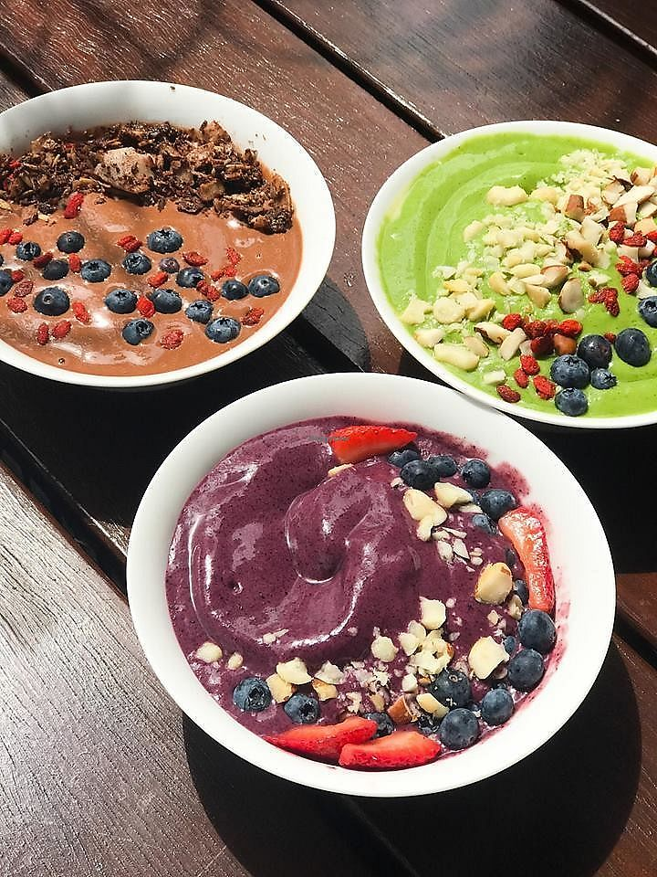 "Photo of Dripping Bowl - Food Trailer  by <a href=""/members/profile/AndiKate"">AndiKate</a> <br/>We chose one of each smoothie this day to try! An acai berry, cacao chocolate & green smoothie bowls...  <br/> November 12, 2017  - <a href='/contact/abuse/image/98372/324908'>Report</a>"