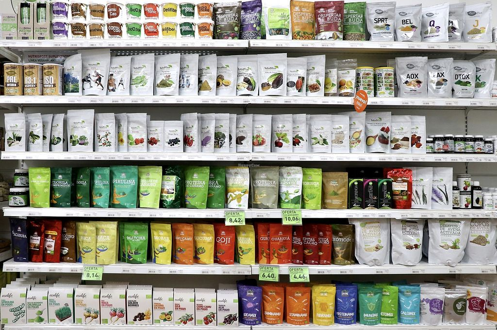 """Photo of Ecorganic  by <a href=""""/members/profile/Organicveganvalencia"""">Organicveganvalencia</a> <br/>Large section of superfoods and dietary supplements <br/> August 14, 2017  - <a href='/contact/abuse/image/98376/292539'>Report</a>"""