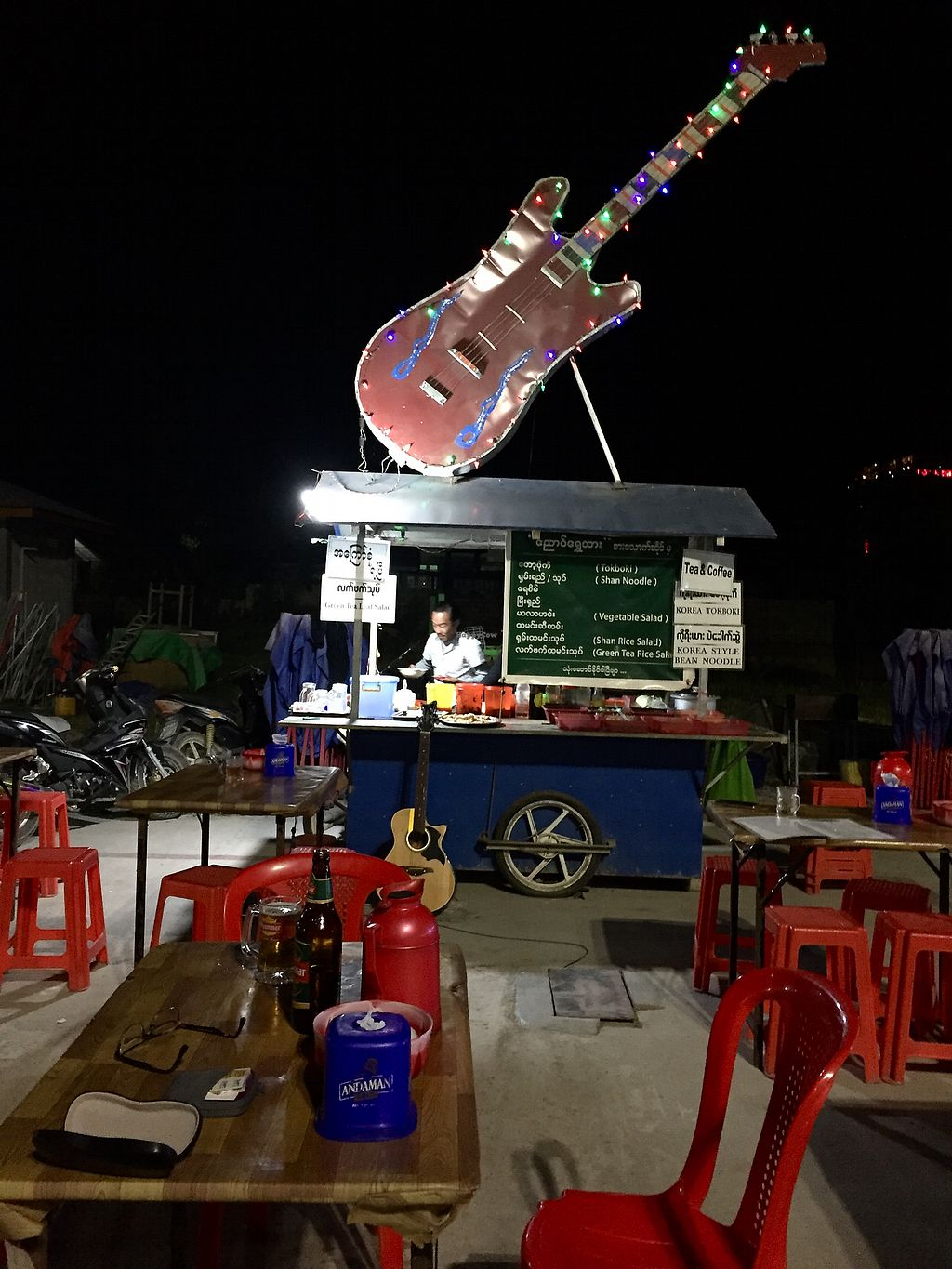 "Photo of Ngaung Shwe Thu  by <a href=""/members/profile/ElizabethCostello"">ElizabethCostello</a> <br/>Giant guitar! <br/> March 7, 2018  - <a href='/contact/abuse/image/98393/367747'>Report</a>"