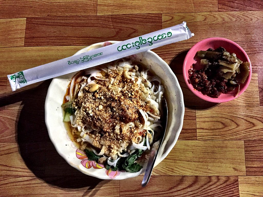 "Photo of Ngaung Shwe Thu  by <a href=""/members/profile/ElizabethCostello"">ElizabethCostello</a> <br/>Shan noodles with optional extra chillis and pickles <br/> March 7, 2018  - <a href='/contact/abuse/image/98393/367748'>Report</a>"