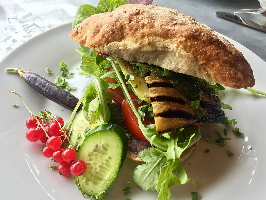 "Photo of Teater Cafeen  by <a href=""/members/profile/Borcher"">Borcher</a> <br/>Vegan sandwich with grilled eggplant <br/> August 13, 2017  - <a href='/contact/abuse/image/98395/292248'>Report</a>"