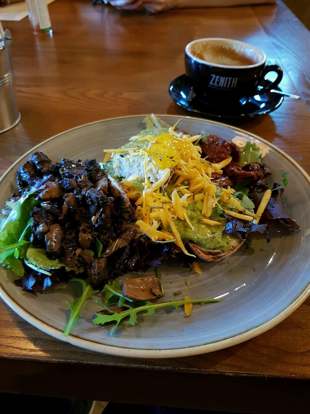"""Photo of Zenith  by <a href=""""/members/profile/SerenaA"""">SerenaA</a> <br/>toast with avocado,vegan cheese,mushroom and sundried tomatoes <br/> December 21, 2017  - <a href='/contact/abuse/image/98408/337835'>Report</a>"""