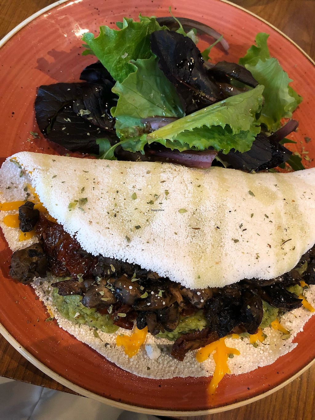 """Photo of Zenith  by <a href=""""/members/profile/Rudgetts"""">Rudgetts</a> <br/>Gluten free began pancake with avocado, mushrooms, sundries tomatoes and vegan cheese <br/> March 3, 2018  - <a href='/contact/abuse/image/98408/366143'>Report</a>"""