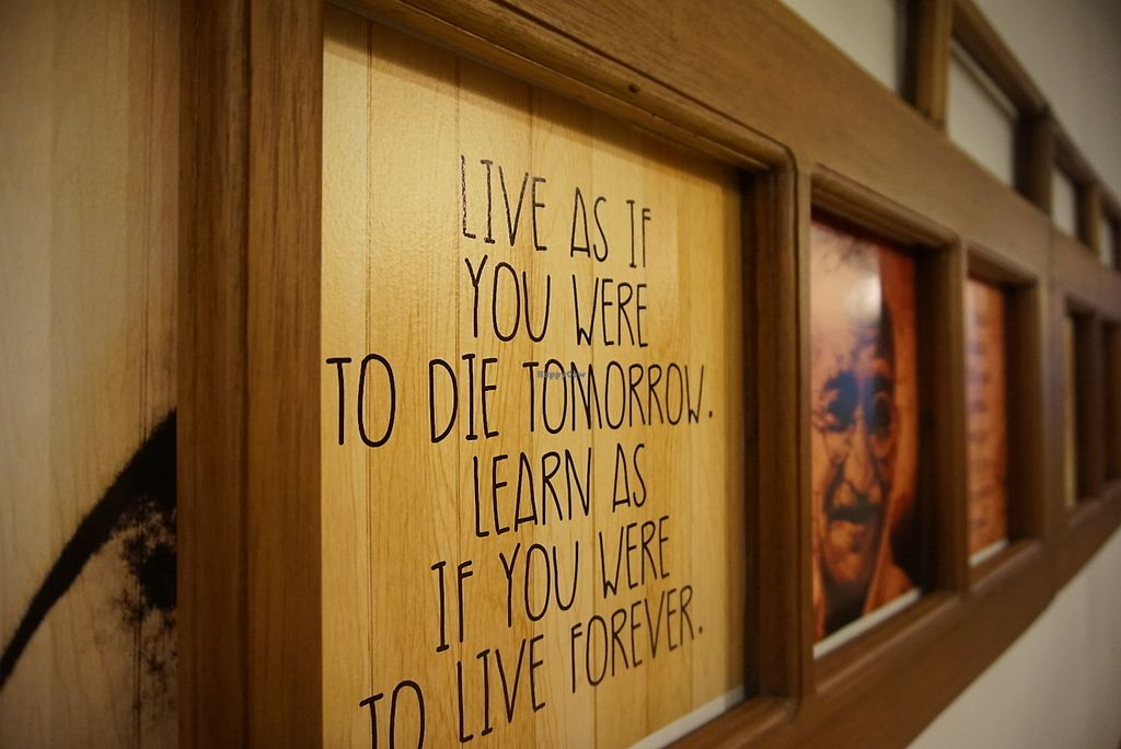"Photo of Biofit Market & Restaurant  by <a href=""/members/profile/Celiarb"">Celiarb</a> <br/>Nice decor with Gandhi's quotes <br/> August 12, 2017  - <a href='/contact/abuse/image/98419/292081'>Report</a>"
