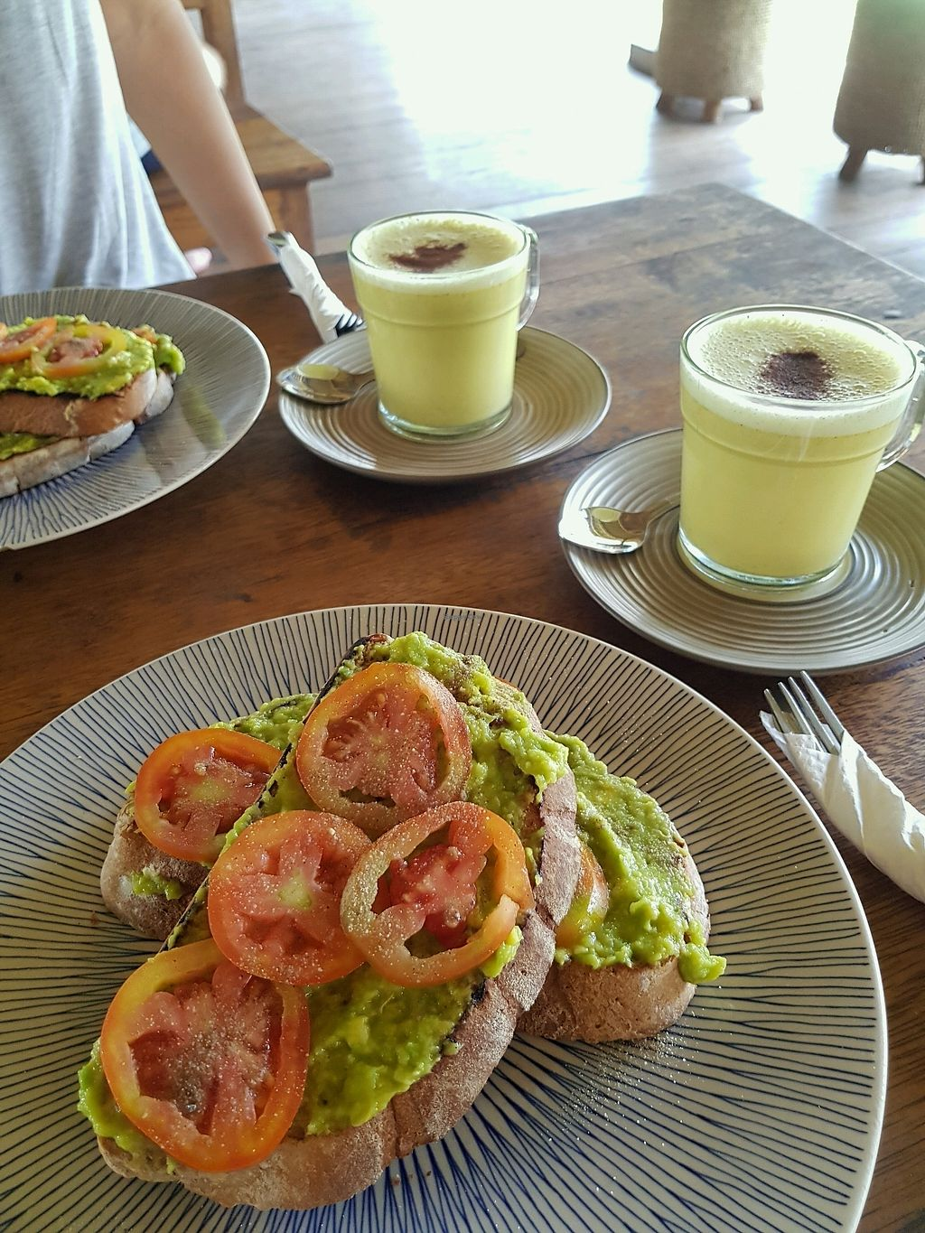 """Photo of Captain Coconuts  by <a href=""""/members/profile/zuckerzucker"""">zuckerzucker</a> <br/>avo toast and golden latte <br/> March 23, 2018  - <a href='/contact/abuse/image/98431/374682'>Report</a>"""