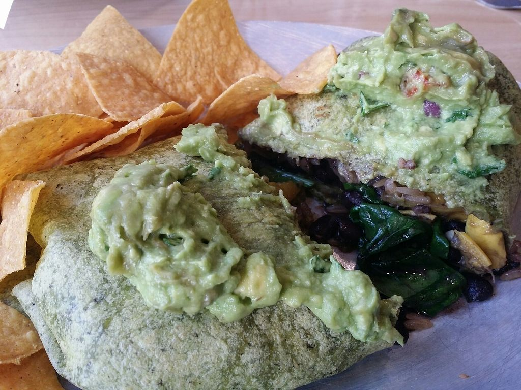 """Photo of Ed's Cantina & Grill  by <a href=""""/members/profile/purplesnowcone"""">purplesnowcone</a> <br/>vegan burrito  <br/> August 12, 2017  - <a href='/contact/abuse/image/98433/292064'>Report</a>"""