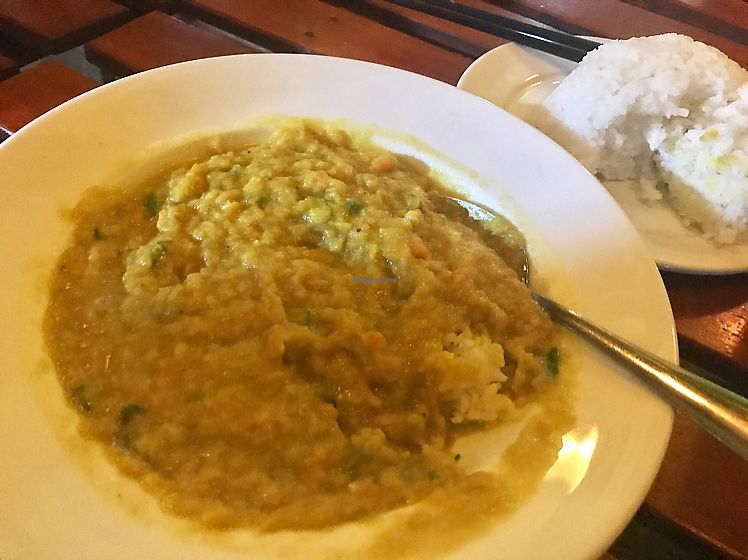 """Photo of Easy Tiger Hostel - Jungle Bar  by <a href=""""/members/profile/JessicaEatsFood"""">JessicaEatsFood</a> <br/>mung bean dahl-- thumbs up! <br/> August 12, 2017  - <a href='/contact/abuse/image/98462/292114'>Report</a>"""