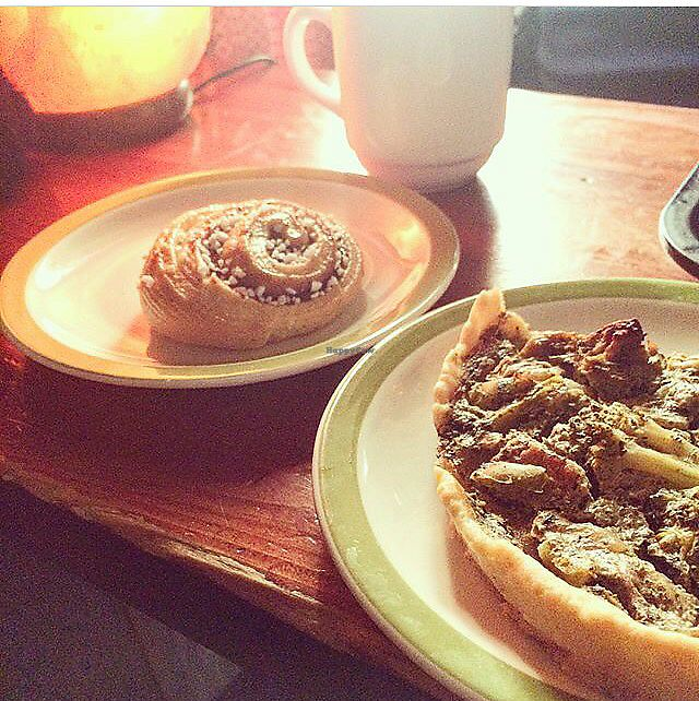 "Photo of Regatta  by <a href=""/members/profile/naturallyemmablog"">naturallyemmablog</a> <br/>tofu  pie and vegan cinnamon bun  <br/> February 5, 2018  - <a href='/contact/abuse/image/98463/355279'>Report</a>"