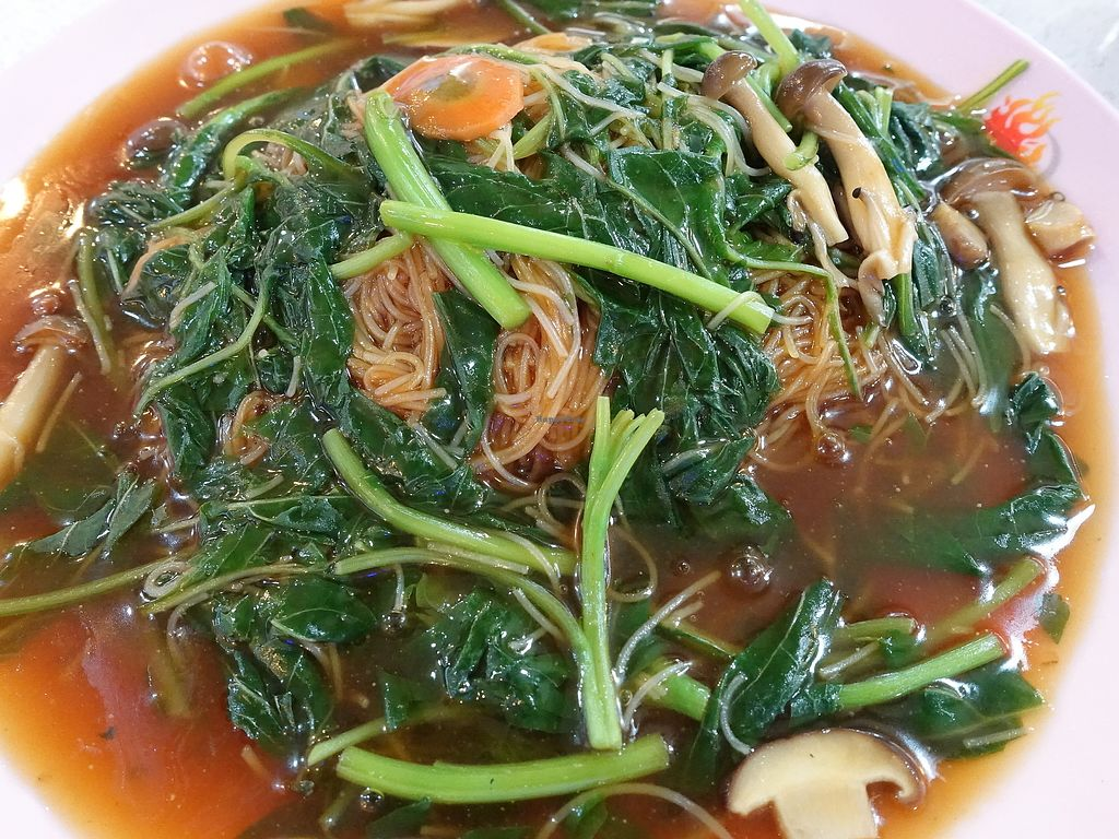 """Photo of CLOSED: Eastern Pure Vegetarian Food  by <a href=""""/members/profile/JimmySeah"""">JimmySeah</a> <br/>bean paste Vermicelli. I asked for no eggs and no mock meat.  <br/> August 13, 2017  - <a href='/contact/abuse/image/98465/292132'>Report</a>"""
