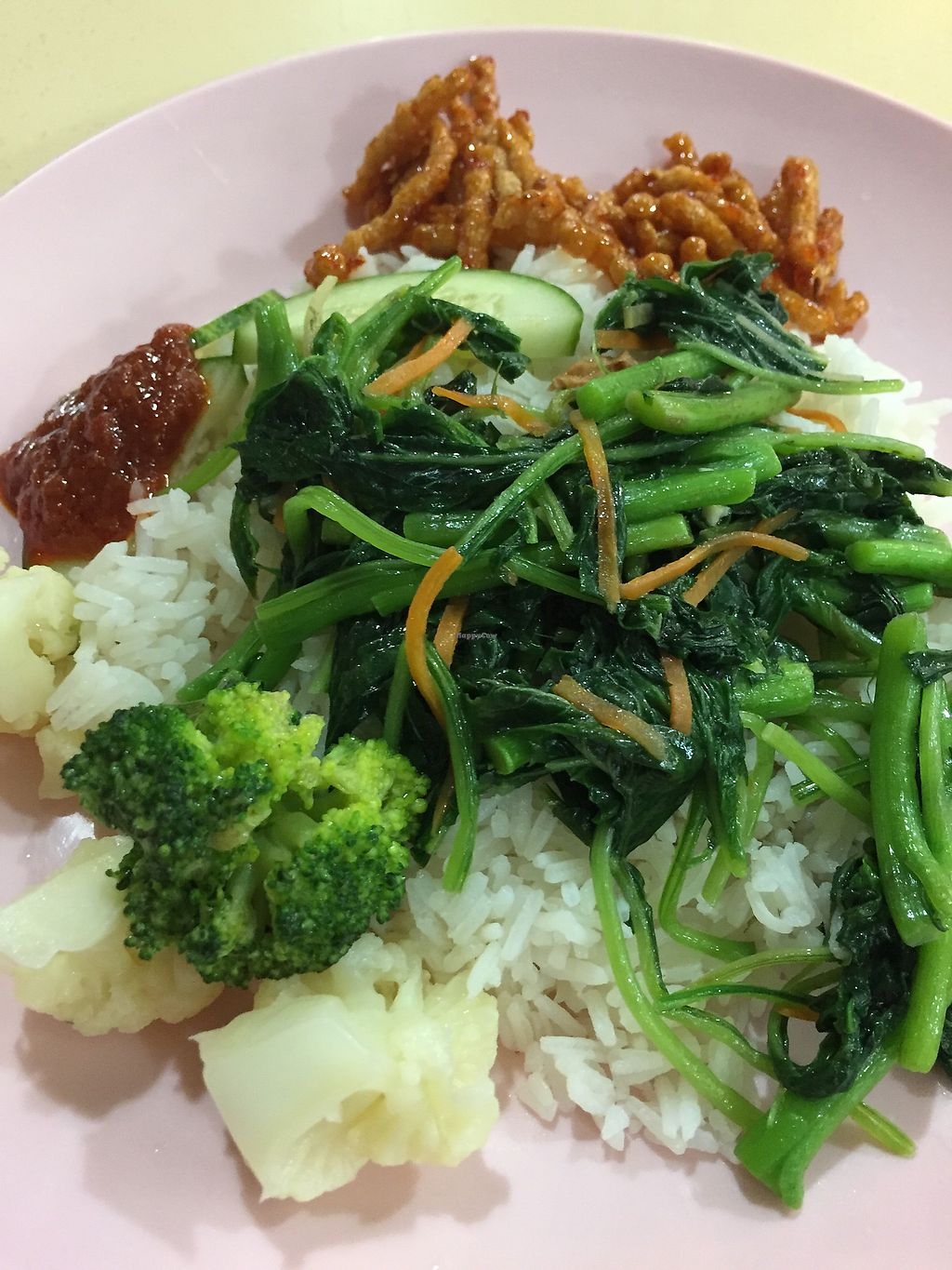 """Photo of CLOSED: Eastern Pure Vegetarian Food  by <a href=""""/members/profile/verywanderful"""">verywanderful</a> <br/>Nasi Lemak. coconut rice with dishes <br/> August 20, 2017  - <a href='/contact/abuse/image/98465/294765'>Report</a>"""