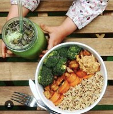 "Photo of Ancestors Coffee  by <a href=""/members/profile/TheAccessibleVegan"">TheAccessibleVegan</a> <br/>Buddha bowls with healthy smoothie  <br/> August 13, 2017  - <a href='/contact/abuse/image/98471/292269'>Report</a>"