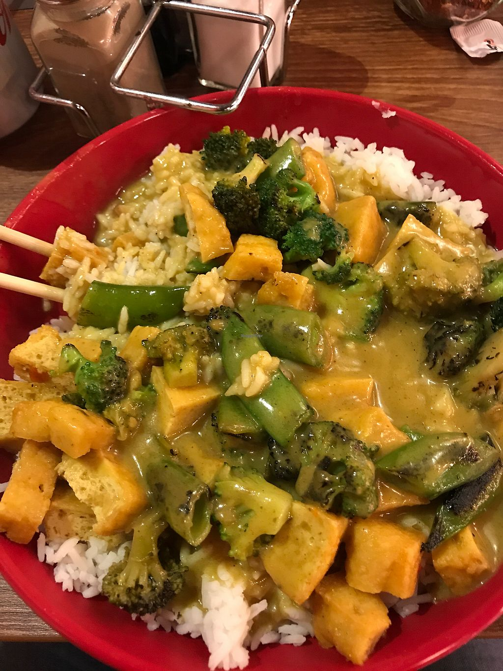 """Photo of Dr Noodles  by <a href=""""/members/profile/NathalieMarshall"""">NathalieMarshall</a> <br/>Tofu veg coconut curry & rice <br/> August 12, 2017  - <a href='/contact/abuse/image/98472/292036'>Report</a>"""