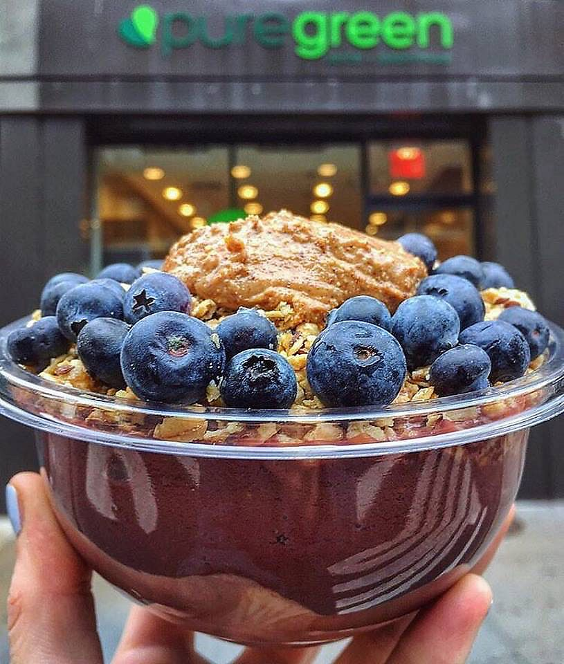 """Photo of Pure Green - Financial District  by <a href=""""/members/profile/graciepajonk"""">graciepajonk</a> <br/>amazing smoothie bowls <br/> August 12, 2017  - <a href='/contact/abuse/image/98473/292109'>Report</a>"""