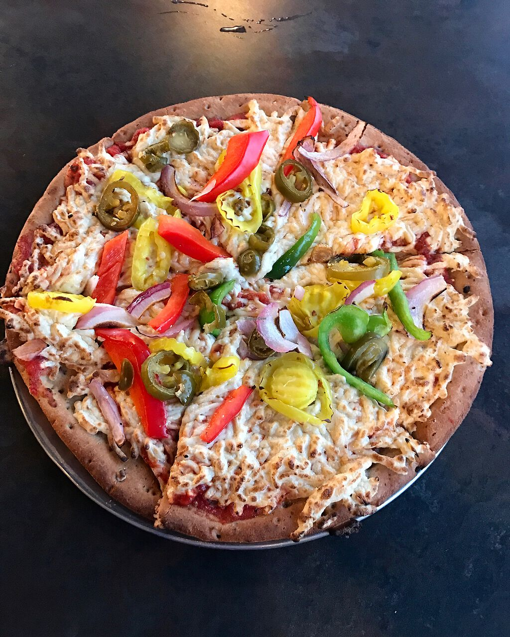 "Photo of Pie Five Pizza  by <a href=""/members/profile/ShannonTremblay"">ShannonTremblay</a> <br/>Gluten free crust and vegan cheese.  <br/> September 9, 2017  - <a href='/contact/abuse/image/98490/302276'>Report</a>"