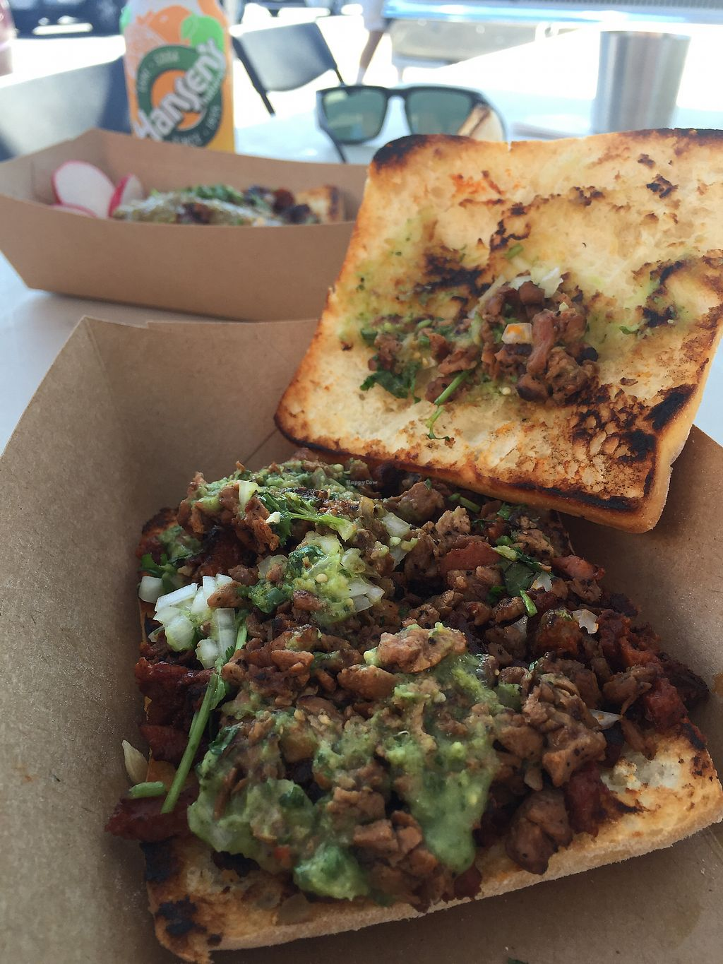 """Photo of La Taqueria Vegiee San Diego - Food Truck  by <a href=""""/members/profile/veganinsandiego"""">veganinsandiego</a> <br/>Mixta torta inside <br/> September 6, 2017  - <a href='/contact/abuse/image/98496/301367'>Report</a>"""
