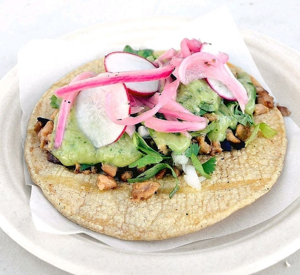 """Photo of La Taqueria Vegiee San Diego - Food Truck  by <a href=""""/members/profile/KellyBone"""">KellyBone</a> <br/>Asada Taco  <br/> September 10, 2017  - <a href='/contact/abuse/image/98496/302844'>Report</a>"""