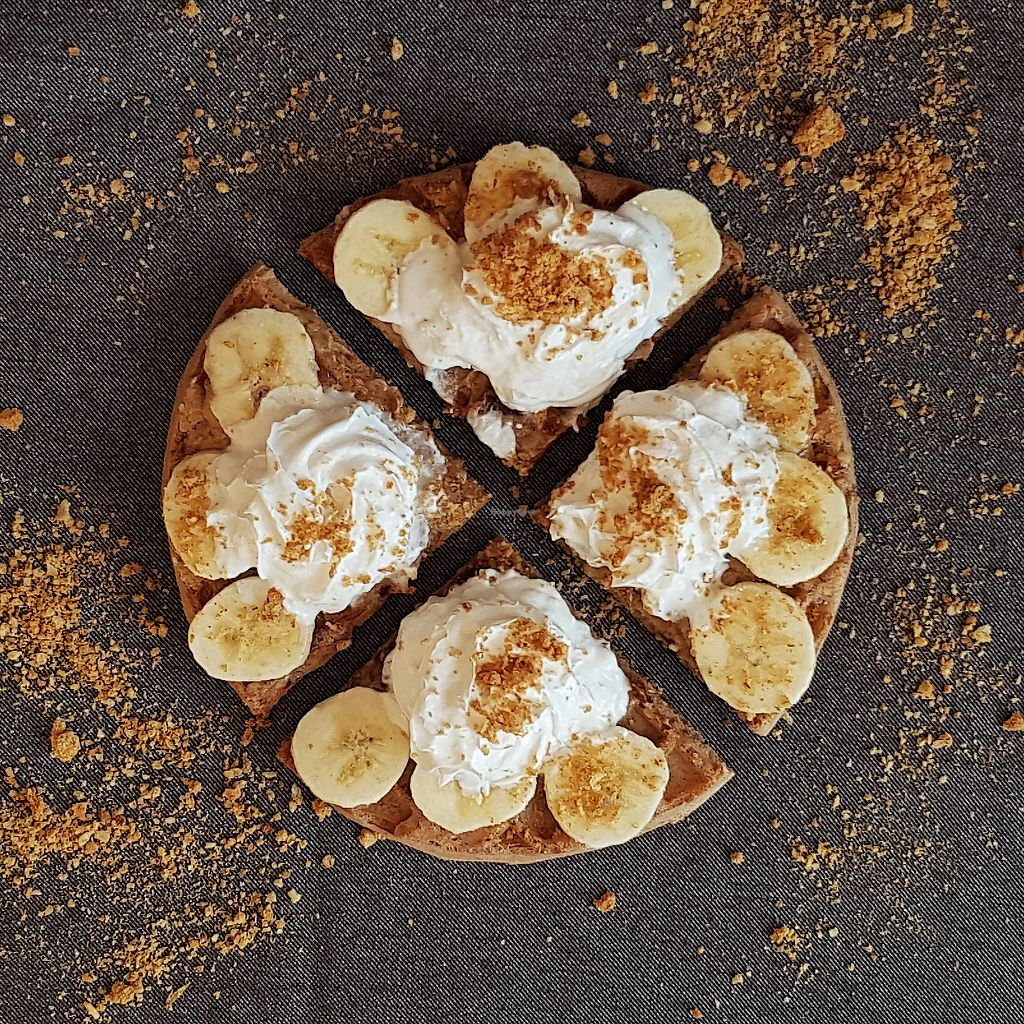 """Photo of Waffled  by <a href=""""/members/profile/kasialuksza"""">kasialuksza</a> <br/>Banoffle - banana waffle with homemade toffee, bananas , whipped cream and crushed biscuits  <br/> March 25, 2018  - <a href='/contact/abuse/image/98537/375892'>Report</a>"""