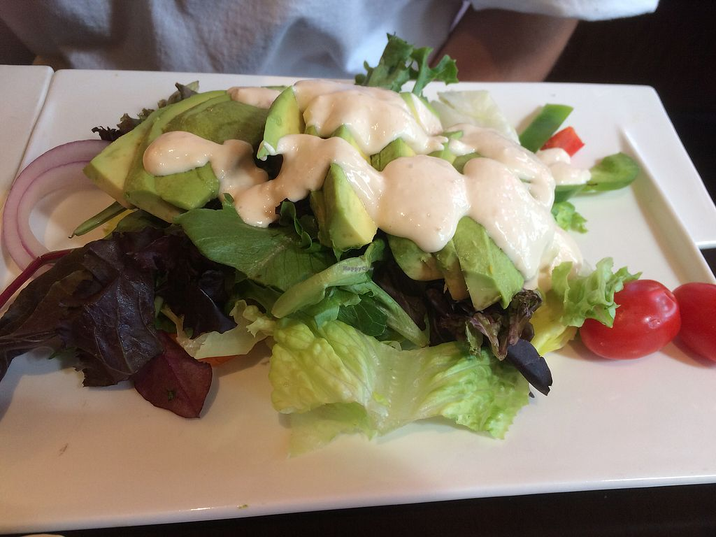 "Photo of Furoshiki  by <a href=""/members/profile/fruitiJulie"">fruitiJulie</a> <br/>avocado salad- ask for no dressing or for the BBQ dressing they use on the tofu to make it vegan <br/> August 14, 2017  - <a href='/contact/abuse/image/98562/292469'>Report</a>"