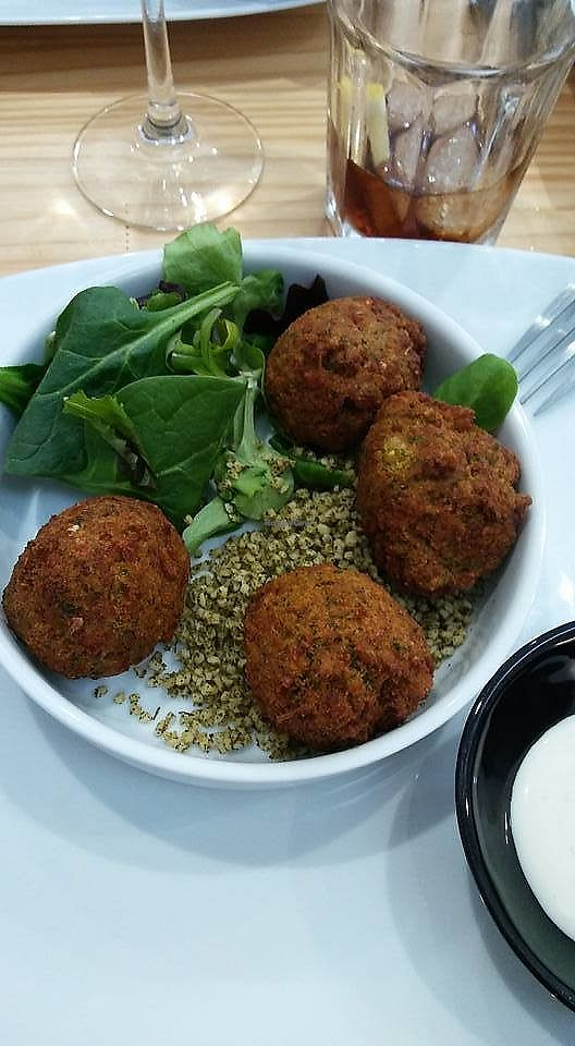 """Photo of Fusiona Gastrobar  by <a href=""""/members/profile/Sarmale"""">Sarmale</a> <br/>Falafel with bulgur taboulé <br/> September 3, 2017  - <a href='/contact/abuse/image/98574/300361'>Report</a>"""