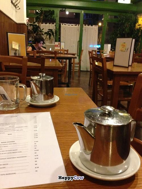 """Photo of Garraxi Restaurante Vegetariano  by <a href=""""/members/profile/Ayra"""">Ayra</a> <br/>Aromatic and warming herbal tea- freshly brewed with real herbs and fruits <br/> September 23, 2013  - <a href='/contact/abuse/image/9858/55526'>Report</a>"""