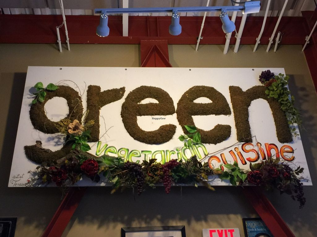 """Photo of Green Vegetarian Cuisine - Downtown  by <a href=""""/members/profile/BeckLauer"""">BeckLauer</a> <br/>green = yummy! <br/> September 13, 2015  - <a href='/contact/abuse/image/9860/117605'>Report</a>"""