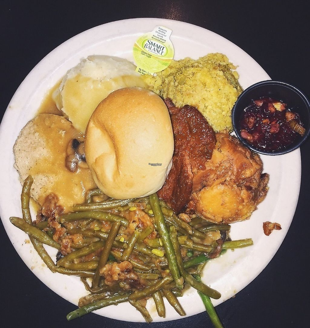 """Photo of Green Vegetarian Cuisine - Downtown  by <a href=""""/members/profile/PlantPrincesa"""">PlantPrincesa</a> <br/>Thanksgiving special <br/> December 30, 2016  - <a href='/contact/abuse/image/9860/229708'>Report</a>"""