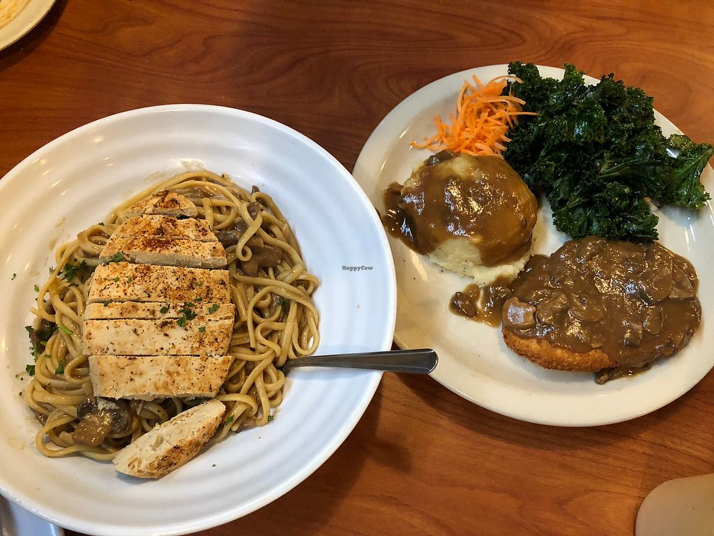 """Photo of Green Vegetarian Cuisine - Downtown  by <a href=""""/members/profile/Laceface"""">Laceface</a> <br/>Chik'n Marsala and Chik'n fried chik'n <br/> March 10, 2018  - <a href='/contact/abuse/image/9860/368698'>Report</a>"""