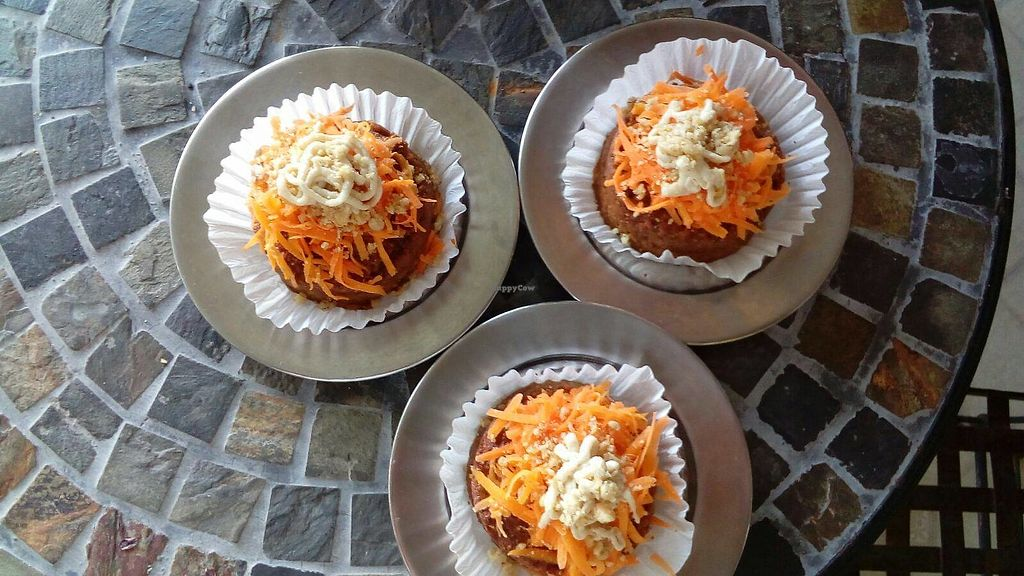 """Photo of Grain House  by <a href=""""/members/profile/community5"""">community5</a> <br/>Gluten-free vegan muffin with carrot and Indian nut <br/> August 16, 2017  - <a href='/contact/abuse/image/98624/293239'>Report</a>"""
