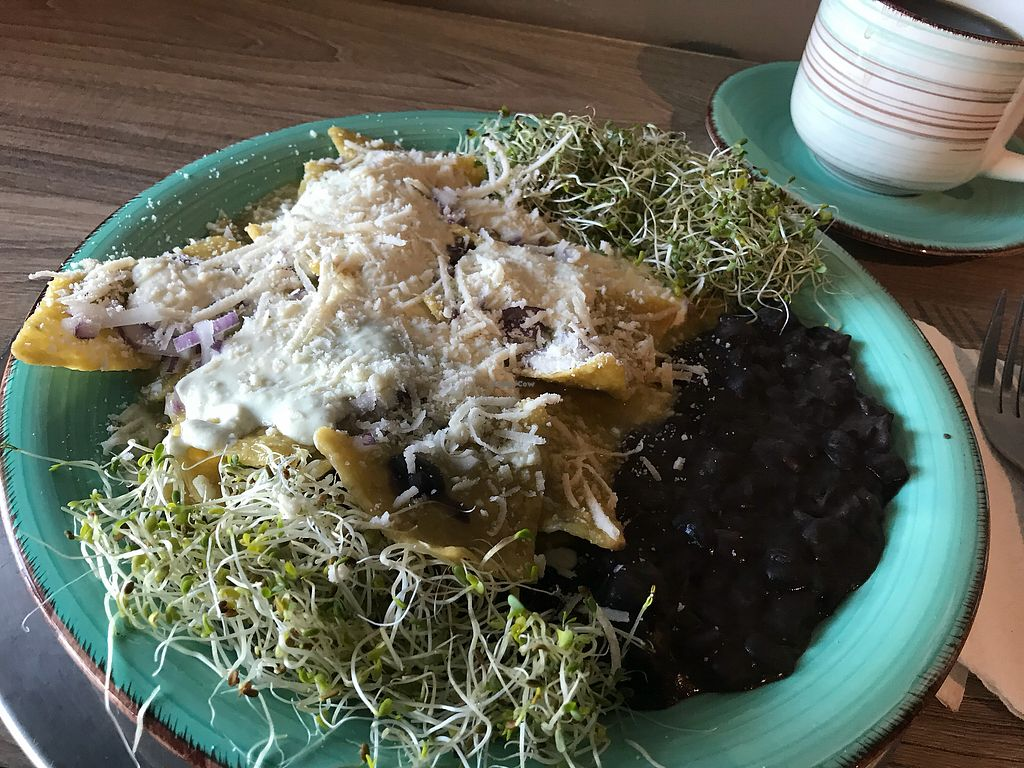 """Photo of Grain House  by <a href=""""/members/profile/rackoo"""">rackoo</a> <br/>Chilaquiles verde - YUM! <br/> January 15, 2018  - <a href='/contact/abuse/image/98624/346939'>Report</a>"""