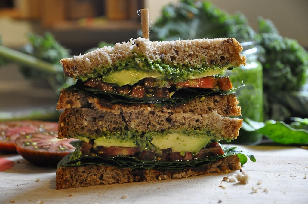 "Photo of Ecocirer  by <a href=""/members/profile/mlu"">mlu</a> <br/>Plant based sandwich, with homemade Xeixa bread!!! <br/> September 20, 2017  - <a href='/contact/abuse/image/98632/306317'>Report</a>"