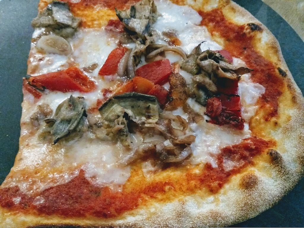 "Photo of Ask Italian  by <a href=""/members/profile/TrixieFirecracker"">TrixieFirecracker</a> <br/>'Top Your Own Vegan Prima Pizza's - grilled aubergines, caramelised onions, roasted peppers, vegan cheese <br/> August 15, 2017  - <a href='/contact/abuse/image/98663/293050'>Report</a>"