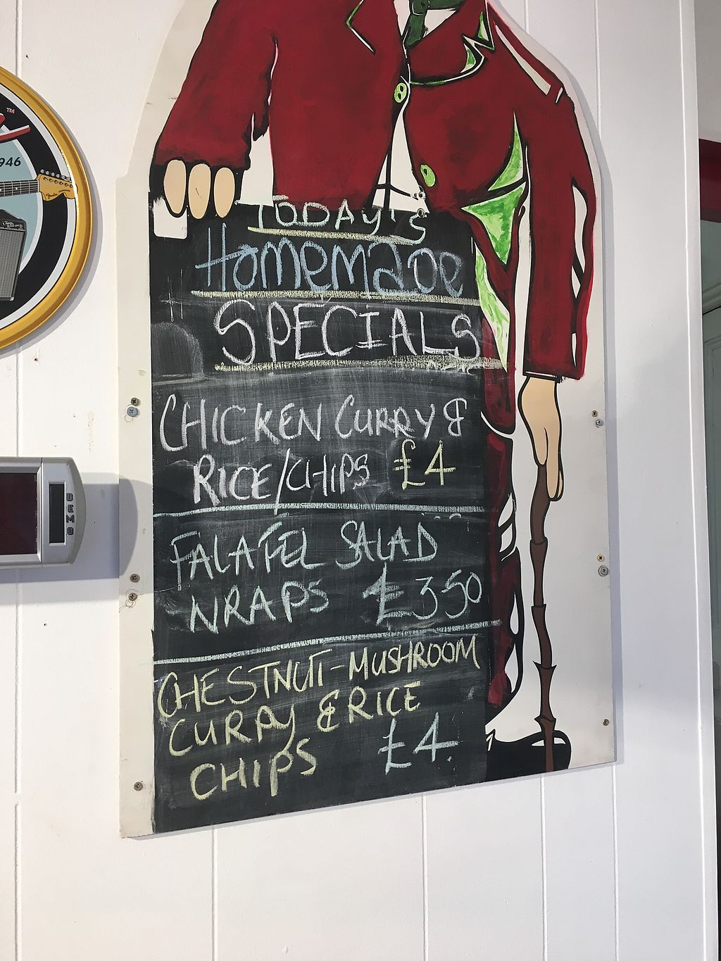"""Photo of The Get Stuffed Pie House  by <a href=""""/members/profile/Superteebs"""">Superteebs</a> <br/>Vegan specials board <br/> October 27, 2017  - <a href='/contact/abuse/image/98667/319182'>Report</a>"""