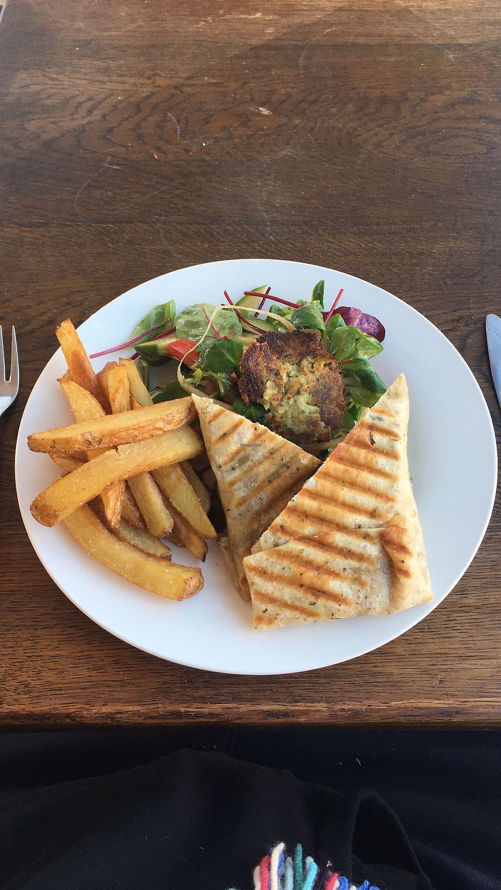 """Photo of The Get Stuffed Pie House  by <a href=""""/members/profile/Superteebs"""">Superteebs</a> <br/>Falafel wrap salad and chips beautiful !! <br/> January 26, 2018  - <a href='/contact/abuse/image/98667/351057'>Report</a>"""