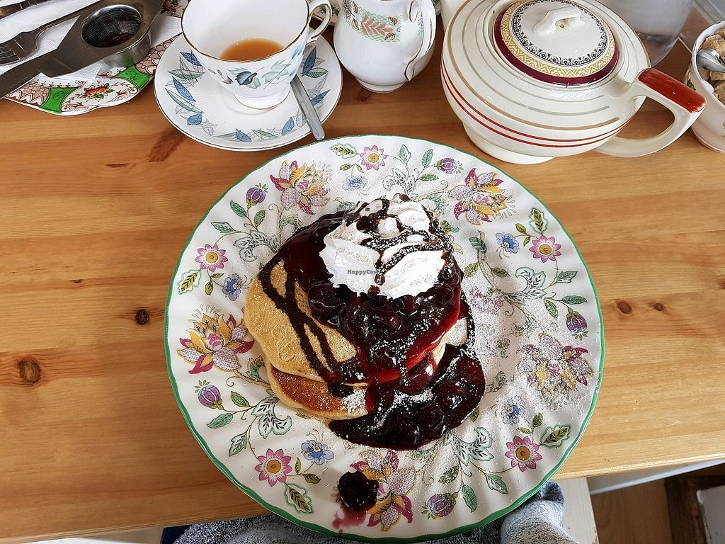 "Photo of The Orchard Cafe  by <a href=""/members/profile/emroisen"">emroisen</a> <br/>Vegan black forest pancakes <br/> January 15, 2018  - <a href='/contact/abuse/image/98668/346874'>Report</a>"