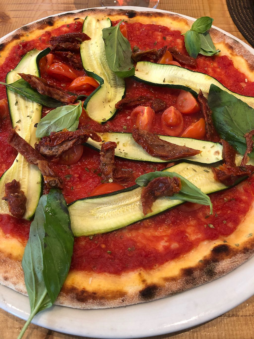"""Photo of Pizzeria Bistro Mediterraneo  by <a href=""""/members/profile/siegburg03"""">siegburg03</a> <br/>Pizza Vegano  <br/> March 31, 2018  - <a href='/contact/abuse/image/98676/378756'>Report</a>"""
