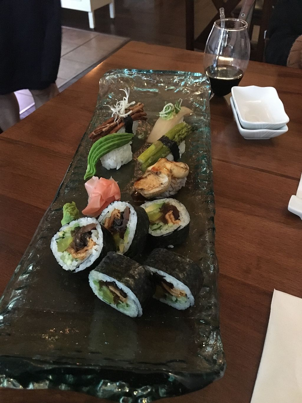 """Photo of Seasoned Fusion Tastes  by <a href=""""/members/profile/form"""">form</a> <br/>Vegan sushi platter <br/> August 16, 2017  - <a href='/contact/abuse/image/98715/293144'>Report</a>"""