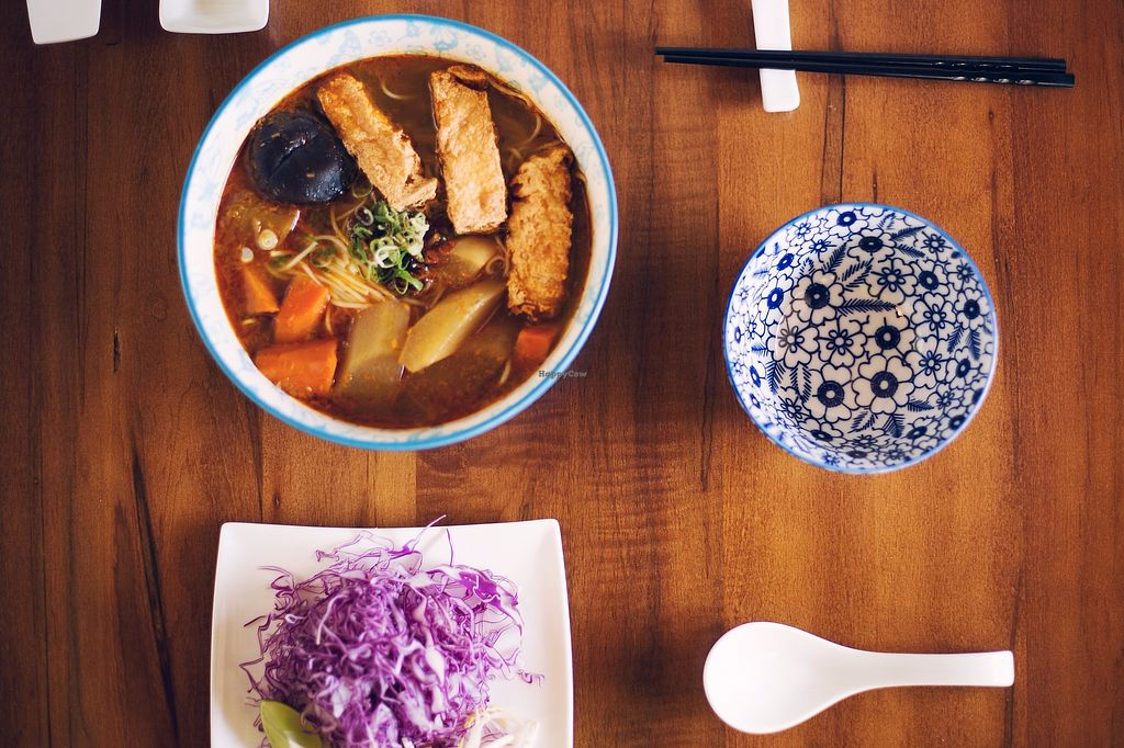 """Photo of Seasoned Fusion Tastes  by <a href=""""/members/profile/FusionVegan"""">FusionVegan</a> <br/>Vegan Noodle Soup <br/> September 8, 2017  - <a href='/contact/abuse/image/98715/302159'>Report</a>"""