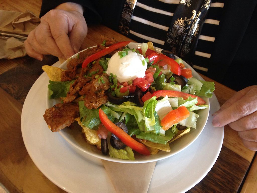 """Photo of Pulse Cafe  by <a href=""""/members/profile/vegangelic"""">vegangelic</a> <br/>Haystacks salad <br/> September 9, 2017  - <a href='/contact/abuse/image/98725/302516'>Report</a>"""