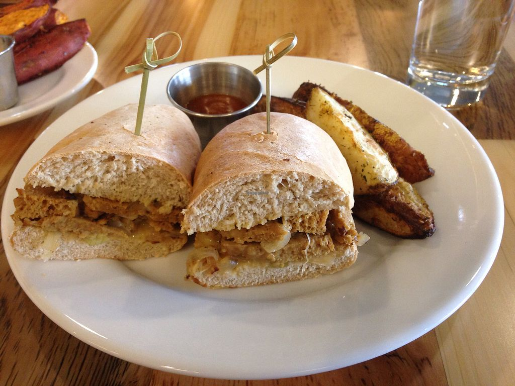 """Photo of Pulse Cafe  by <a href=""""/members/profile/vegangelic"""">vegangelic</a> <br/>""""Cheese steak"""" sandwich, seitan based <br/> September 9, 2017  - <a href='/contact/abuse/image/98725/302517'>Report</a>"""